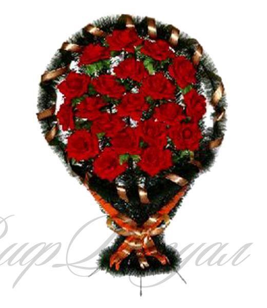 Корзина с искусственными цветами на могилу 8 К, высота 115 см в городе Сергиев Посад - Портал выгодных покупок BLIZKO.ru