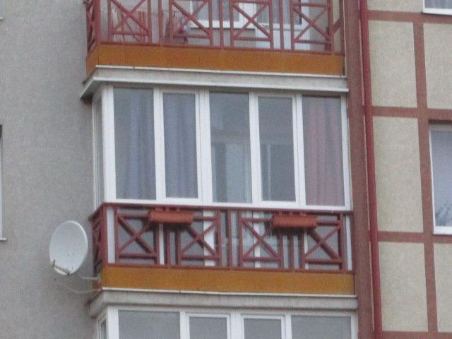 Остекление балконов из обычного стекла, сравнить цены в кали.