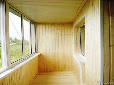 Обшивка балконов и лоджий деревянной вагонкой в тюмени - на .