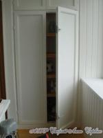 Шкаф ПВХ встроенный на балкон